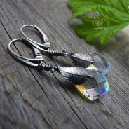 Rainbow Quartz & Silver Leaf